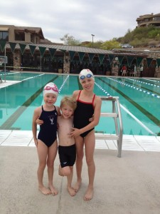 Nothing cuter than 3 kids getting ready to race!