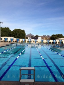 This pool has produced Olympians and I'm so lucky to swim here!